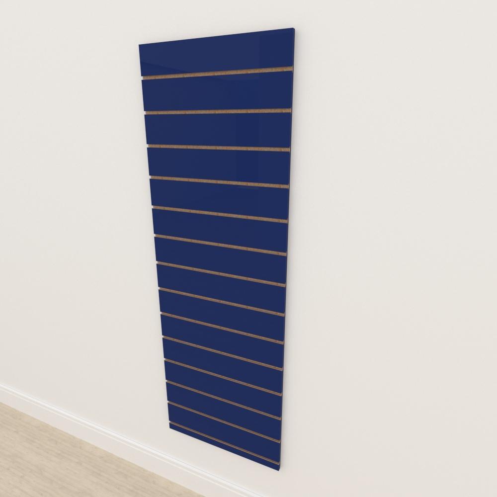 Painel canaletado 18mm Azul Escuro Soft altura 180 cm comp 60 cm