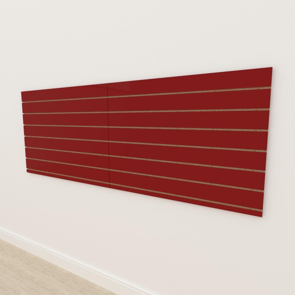 Painel canaletado 18mm Vermelho Escuro Tx altura 90 cm comp 240 cm