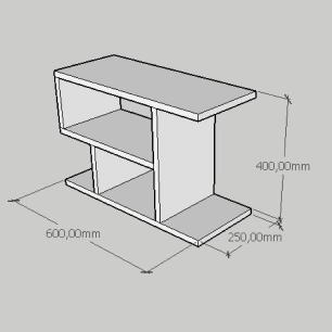 Mesa Lateral compacta em mdf cinza