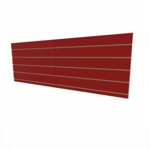 Expositor canaletado 18mm Vermelho Escuro Tx altura 60 cm comp 180 cm