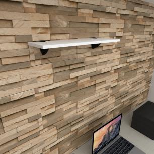 Prateleira para escritório MDF suporte tucano cor branco 60(C)x20(P)cm modelo pratesb10