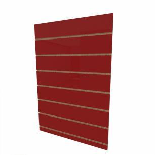 Expositor canaletado 18mm Vermelho Escuro Tx altura 90 cm comp 60 cm