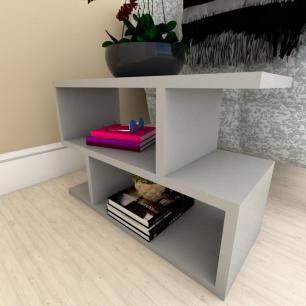 Kit com 2 Mesa de cabeceira cinza