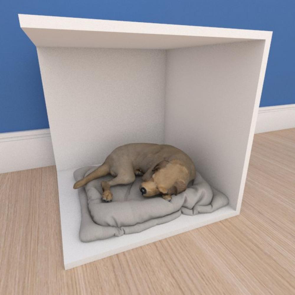 Mesa de cabeceira caminha bercinho pequeno cachorro em mdf branco