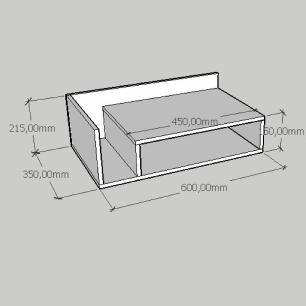 Mesa de cabeceira moderno simples em mdf cinza
