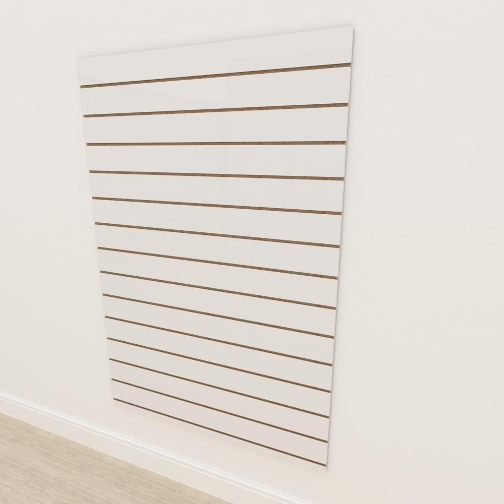 Painel canaletado 18mm Branco Texturizado altura 180 cm comp 120 cm