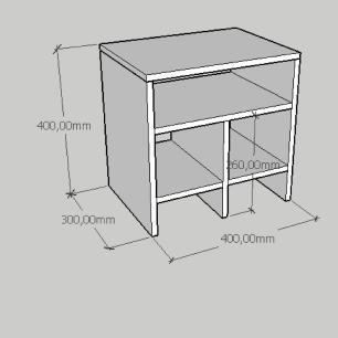 Mesa Lateral simples em mdf cinza