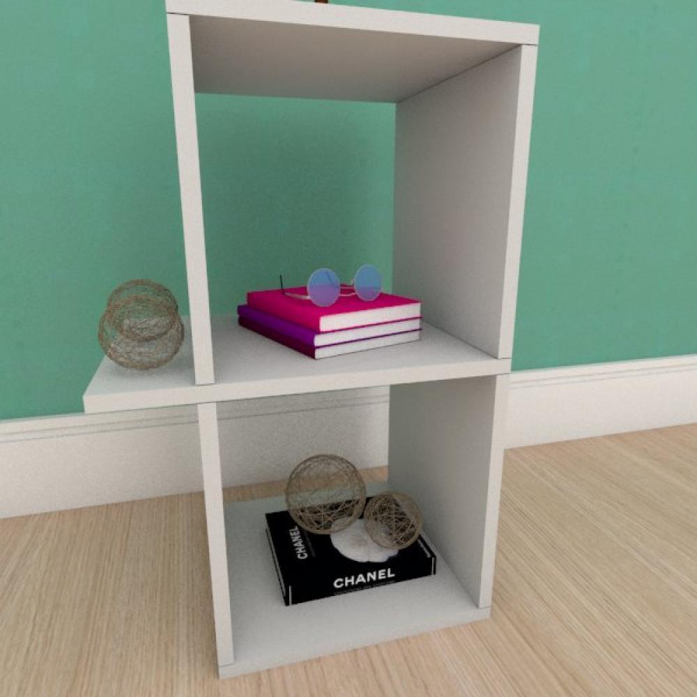 Estante de Livros minimalista em mdf cinza