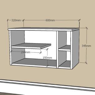 Mesa de Cabeceira moderno com nichos em mdf Preto
