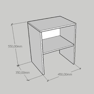 Kit com 2 Mesa de cabeceira em mdf branco