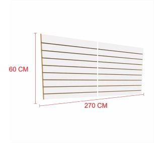 Expositor painel canaletado 18mm Branco altura 60 cm comp 270 cm