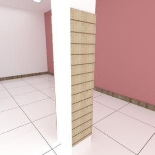 Kit 2 Painel canaletado para pilar amadeirado claro 2 peças 40(L)x180(A)cm