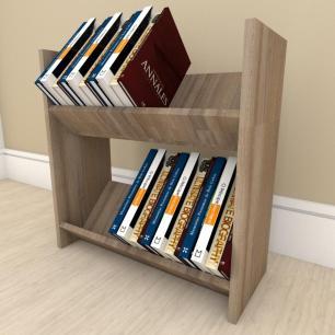 Prateleira para livros Duplo em mdf Amadeirado