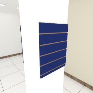 Kit 2 Painel canaletado para pilar azul escuro 2 peças 50(L)x60(A)cm