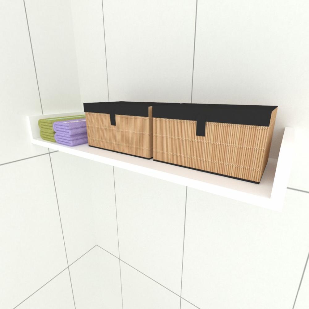 Prateleira para cozinha, nichos modernos em mdf Branco
