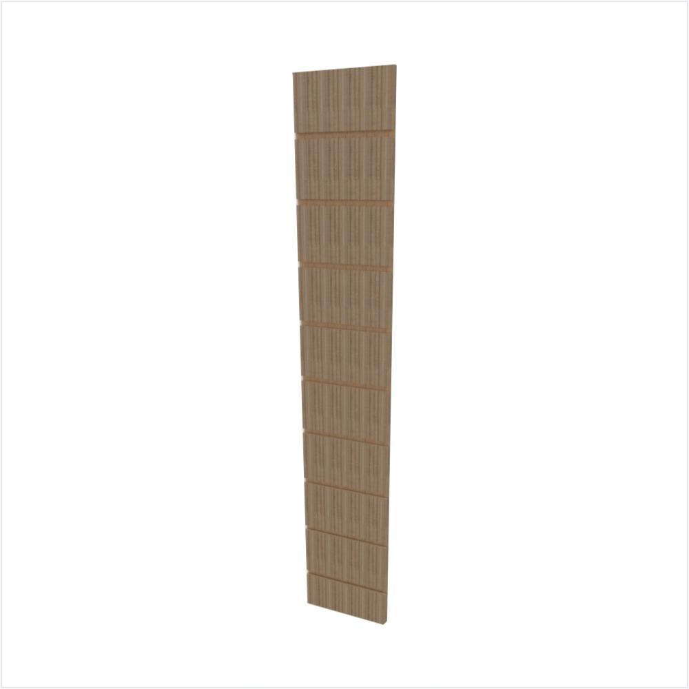 Expositor canaletado 18mm amadeirado escuro altura 120 cm comp 20 cm