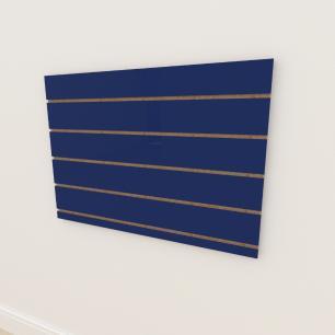 Painel canaletado 18mm Azul Escuro Soft altura 60 cm comp 90 cm
