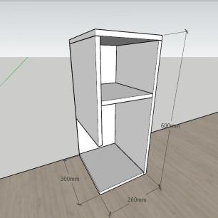 Estante para livros formato simples em mdf Preto