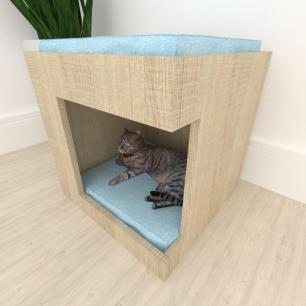 Casinha caminha para gato mdf Amadeirado claro