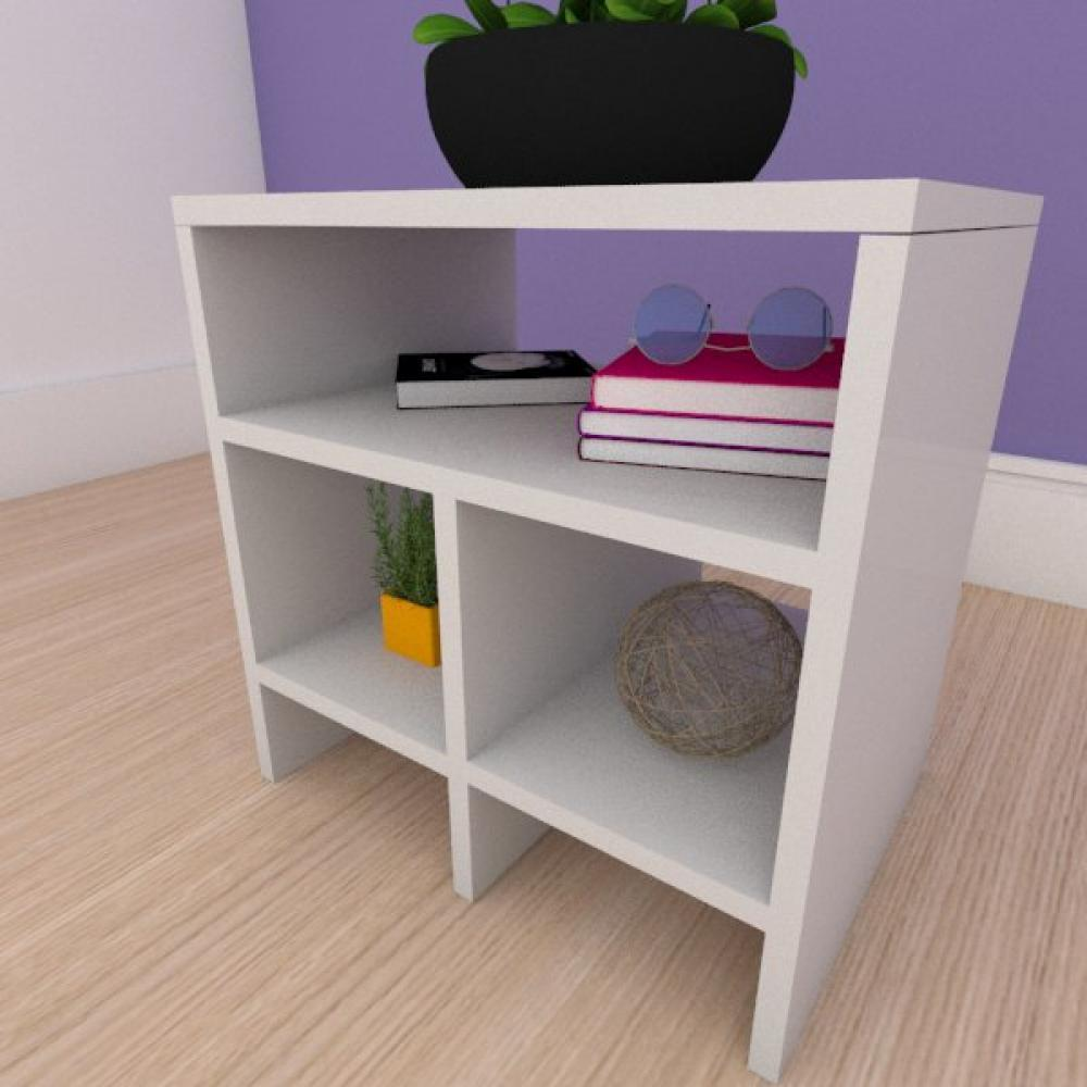 Mesa de centro simples em mdf cinza
