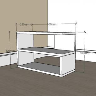 Mesa de Cabeceira slim em mdf Amadeirado