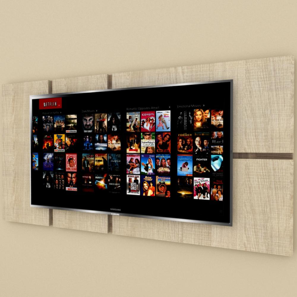 Painel Tv pequeno moderno amadeirado claro e escuro
