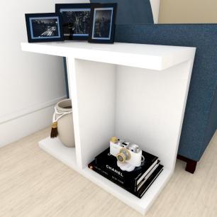 Mini estante para escritório moderna Branco