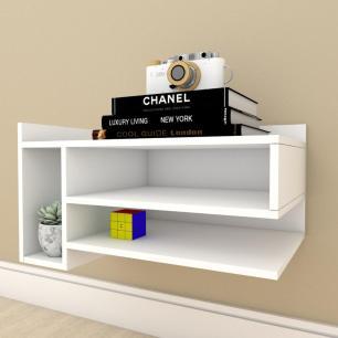 Estante Livros pequeno com nichos em mdf Branco