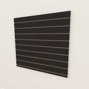 Painel canaletado 18mm Preto Texturizado altura 120 cm comp 120 cm