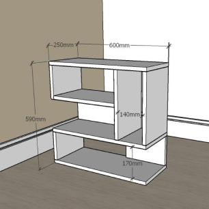 kit com 2 Mesa de cabeceira moderna com nicho em mdf Amadeirado