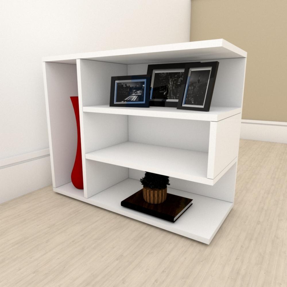 Estante para livros simples em mdf Branco