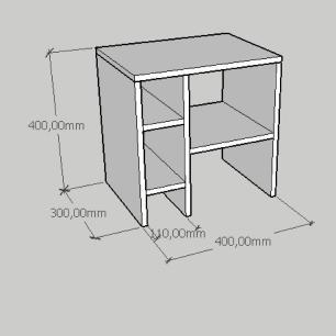 Mesa Lateral simples em mdf branco