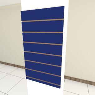Painel canaletado para pilar azul escuro 1 peça 50(L)x90(A) cm