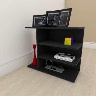 Mesa Lateral para sofá simples em mdf Preto