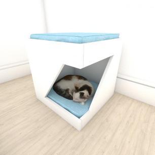 bercinho para Gato em mdf Branco