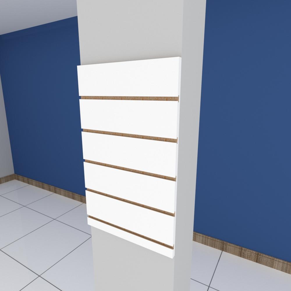Painel canaletado para pilar branco 1 peça 40(L)x60(A)cm