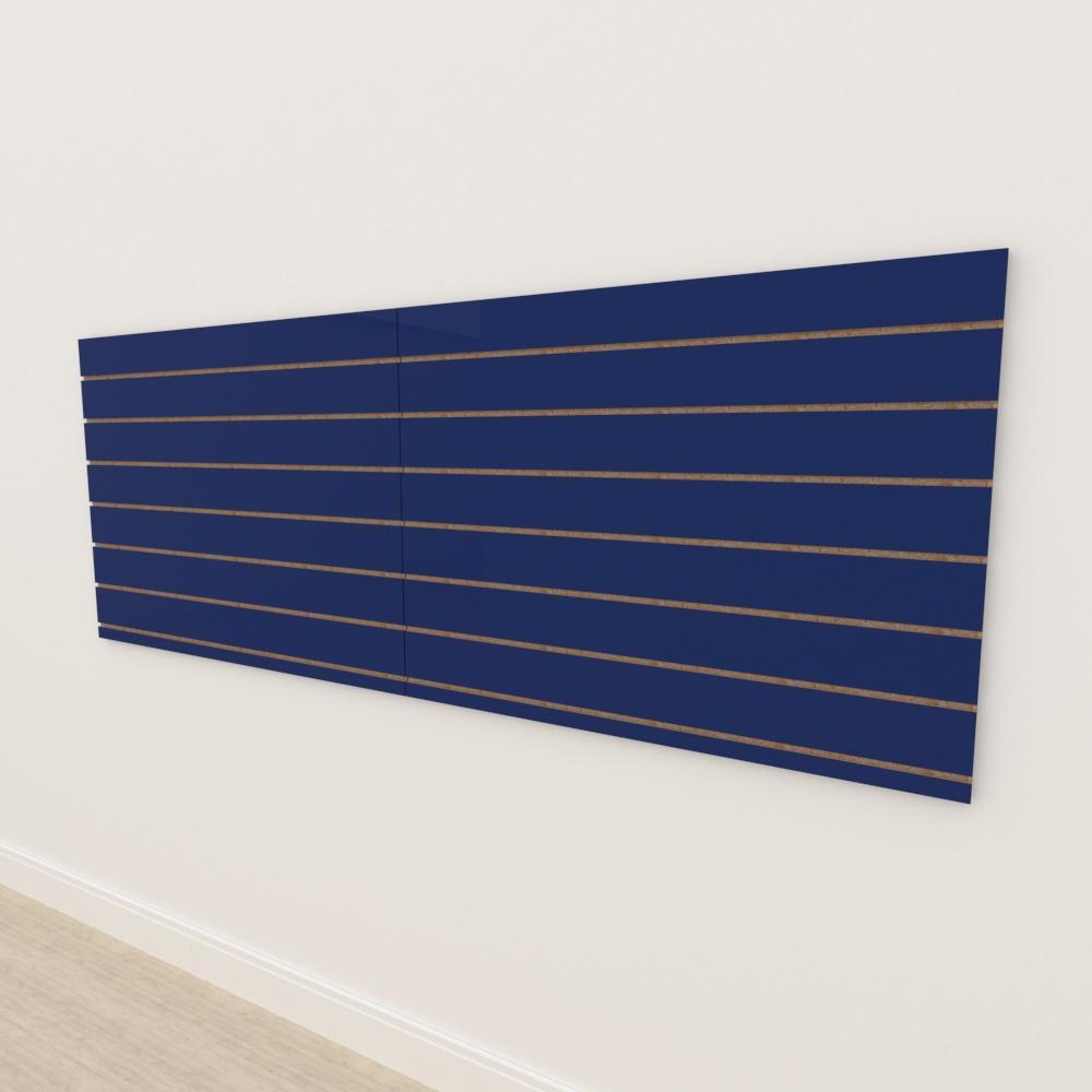 Painel canaletado 18mm Azul Escuro Soft altura 90 cm comp 240 cm
