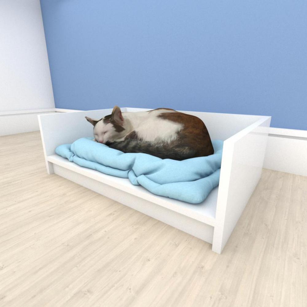 bercinho casinha para Gato em mdf Branco