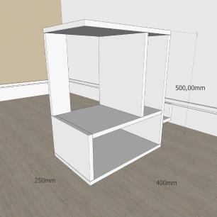 Mesa de Cabeceira simples em mdf Cinza