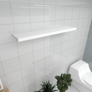 Prateleira para banheiro MDF suporte Inivisivel cor branco 90(C)x20(P)cm modelo pratbnb25