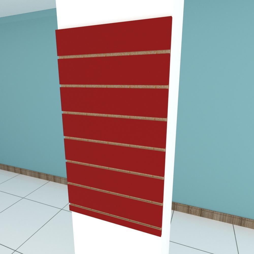 Painel canaletado para pilar vermelho escuro 1 peça 50(L)x90(A)cm