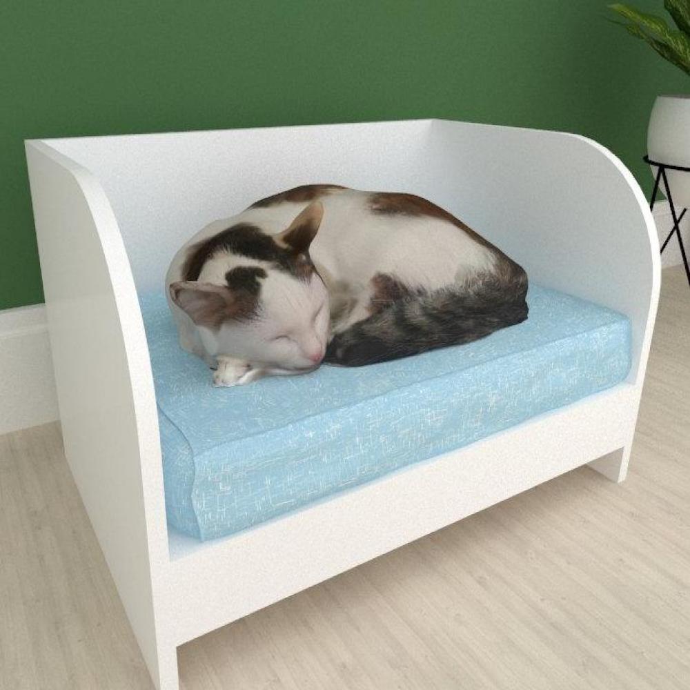 Casinha caminha para gato sofazinho mdf Branco
