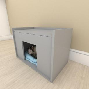 camapet para Gato em mdf Cinza