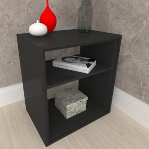 Mesa lateral, mesa de canto, em mdf preto