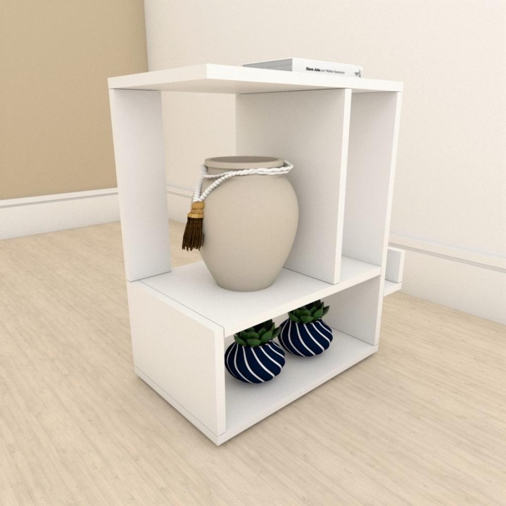 Mesa de Cabeceira simples em mdf Branco