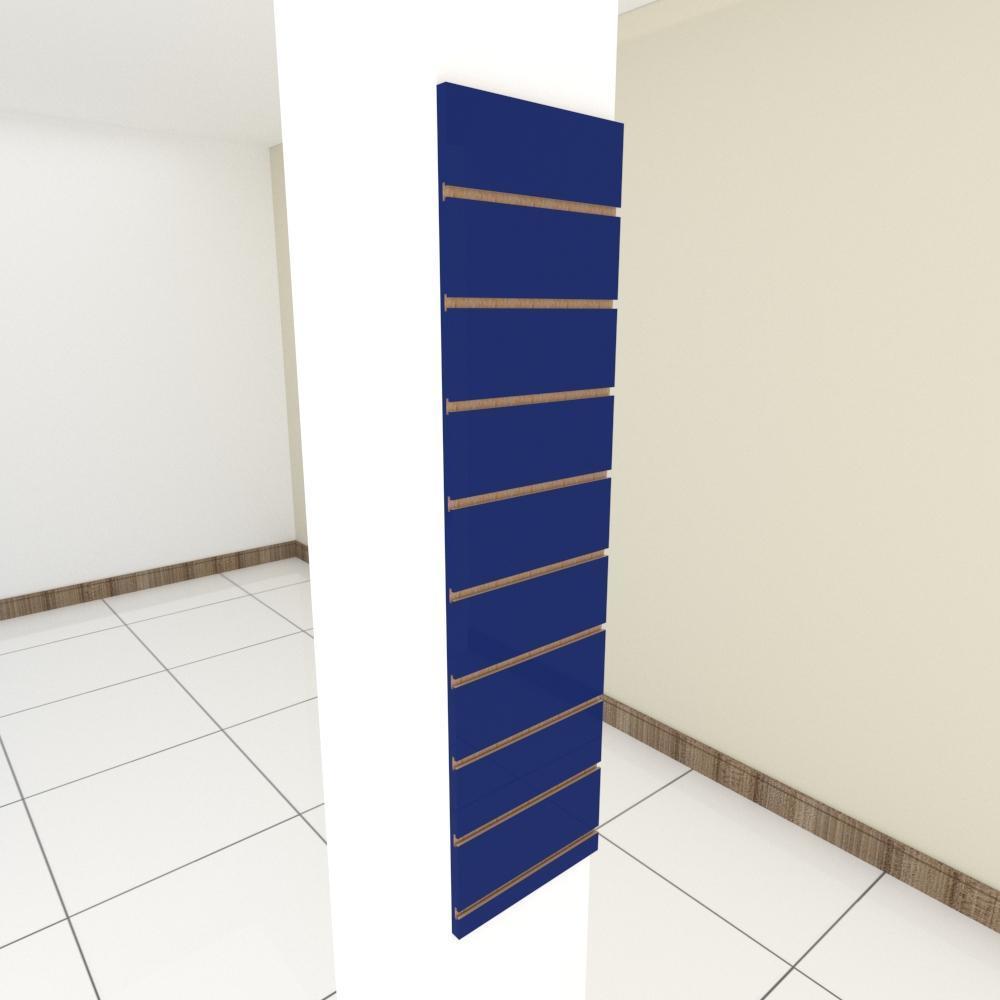 Painel canaletado para pilar azul escuro 1 peça 30(L)x120(A)cm