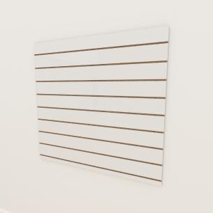 Painel canaletado 18mm Branco Texturizado altura 120 cm comp 120 cm