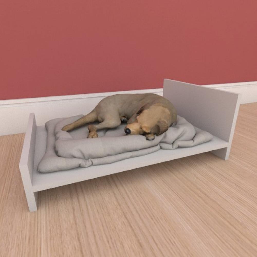 Mesa de cabeceira caminha minimalista pequeno cachorro em mdf cinza