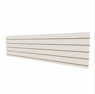 Expositor canaletado 18mm Branco Texturizado altura 60 cm comp 240 cm