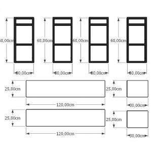 Prateleira industrial aço cor preto 30 cm MDF cor cinza modelo indfb17csl